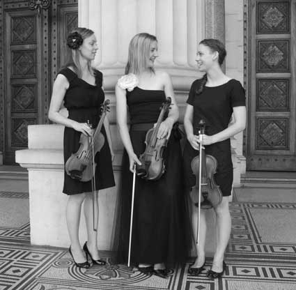 Lilium String Quartet at Parliament Buildings, Melbourne